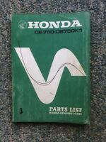 RARE 1970 Honda CB750 Sandcast Parts List
