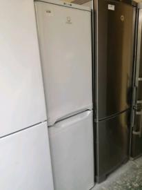 Indesit white fridge freezer at Recyk Appliances