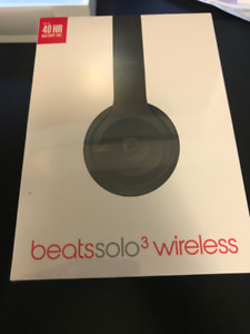 Sealed Beats By Dre - Solo3 Wireless Headphones - Matte Black