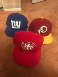 GIANTS - 49ERS - REDSKINS HATS FOR SALE