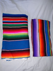 2 Authentic Mexican blankets. Obo