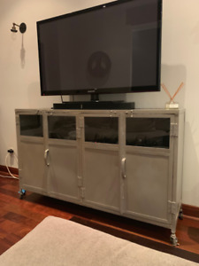 Elte Metal Industrial Media Console Unit