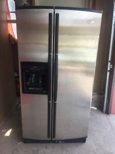 Whirlpool stainless steel fridge for sale 33w 31d 66h