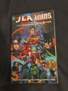 J L A Titans THE TECHNIS IMPERATIVE 1999 Graphic Novel