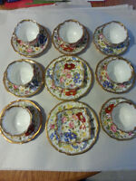 Royal Albert Old English Rose Cups and Saucers