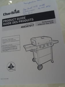 CHAR-BROIL GAS GRILL
