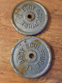 Weights, Cast iron weights, discs, plates £3.00 per kilo