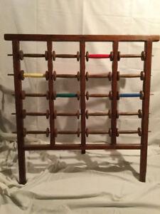 Antique, Primitive Weaving Spool Rack