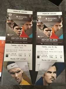 ROGERS CUP TICKETS - GOLD SEATS! CENTRE COURT