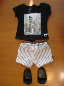 "18"" DOLL BLACK AND WHITE OUTFIT OUR GENERATION GIRL"