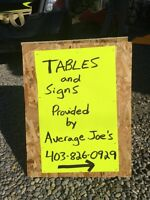 Rent Our Tables For Your Garage Sale! FREE DELIVERY!!!