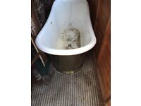 Vintage free standing copper Victorian style bath