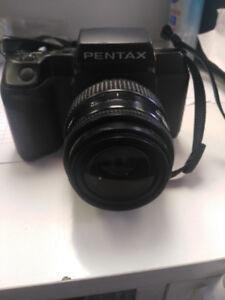 PENTAX SF10 film camera with Magnicon 28-70mm lens