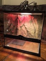 Exo-terra terrarium set up $120.00 OBO