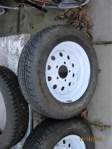 Tires and rims some for trailer Strathcona County Edmonton Area image 1