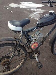 Motorized pedal bike 62 kmh speed like new