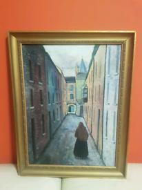 Irish Oil Painting Buttermilk Lane Gallway Ireland