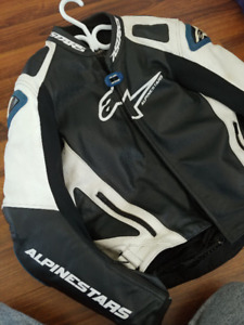 Alpinestars GP-PRO leather motorcycle jacket with PU race insert
