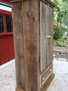 Rustic River Road Barn Board Armoire West Island Greater Montréal image 2