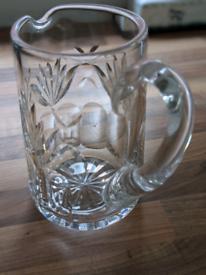Cut glass water jug / vase