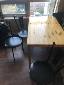 Table and Chair set - $100 OBO