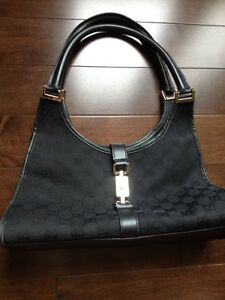 Authentic gucci Bardot handbag purse black