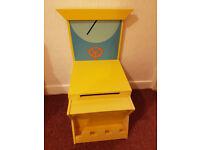 Next yellow kids toys/books storage