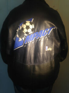 Montreal Impact leather jacket with original logo