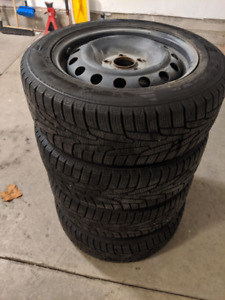 Kumho winter tires on rims (used 1.5 seasons) for Kia Rondo