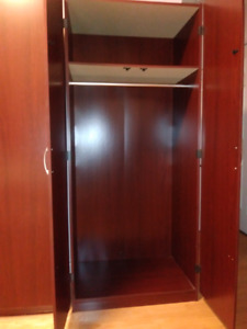 Sauder Cherry Colour Bookcases & Wardrobes -All 4 for $100