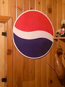 Grande Affiche Pepsi 1990' (imprimé recto verso)