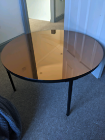 Habitat Round Glass Mirror Coffee Table