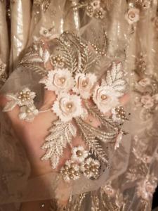 Gorgeous 3-D flowers Maxi Dress