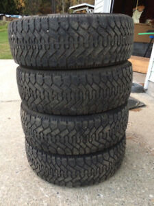 4 - 215/60/R16 Goodyear Nordic winter tires for sale