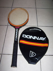 """Vintage DONNAY """"ALLWOOD"""" Tennis Racquet t + Cover"""