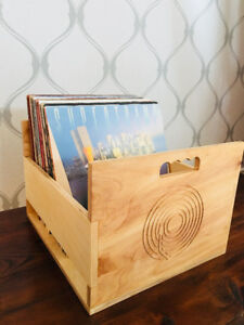 Hand-Crafted Vinyl Record Crates