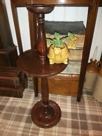 Edwardian Oak Gentleman's Ashtray
