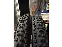 "Mountain bike tyres 26"" nearly new"
