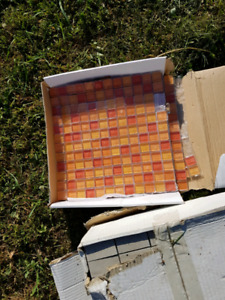 Glass and ceramic tiles for craft projects