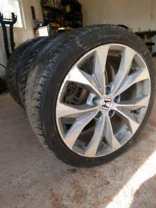 Factory civic si rims on new winter tires
