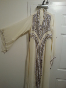 Middle eastern fancy style long dress, worn once only. Like new