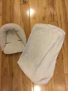 $5 for both Cozy head hugger and change table mattress sheet