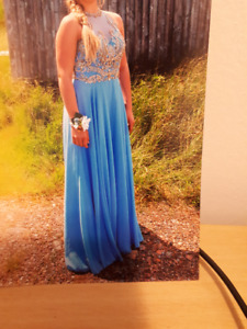 Periwinkle colored Prom Dress.