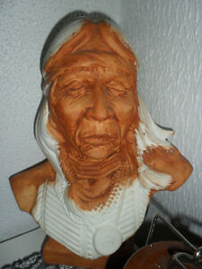 Vintage native bust