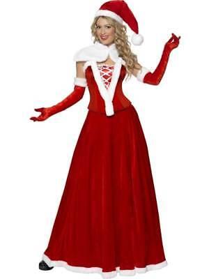 Luxus Miss Santa Kostüm, Weihnachten Verkleidung, Groß 16-18, - Große Weihnachts Kostüme