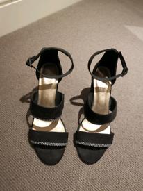Womens Black Heels - Size 6 - Fantastic Condition