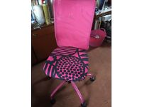 Pink computer swivel chair