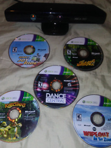 Reduced!! Xbox 360 Kinect & 5 kinect games!!