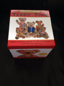 Teddy Book and stackable boxes
