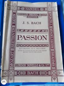 Bach, Passion choir musical scores- 1951